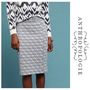 Anthropologie | Maeve Emmy Textured Skirt M